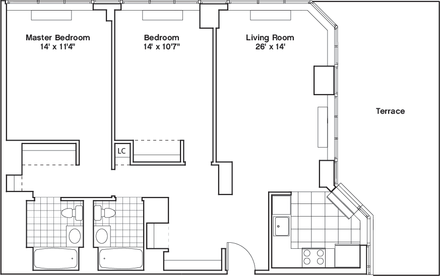 Learn more about Residence F, Floor 46