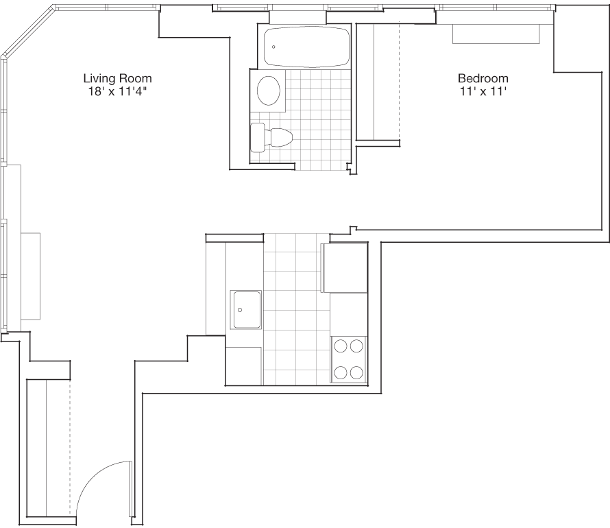 Residence A, Floors 4-PH