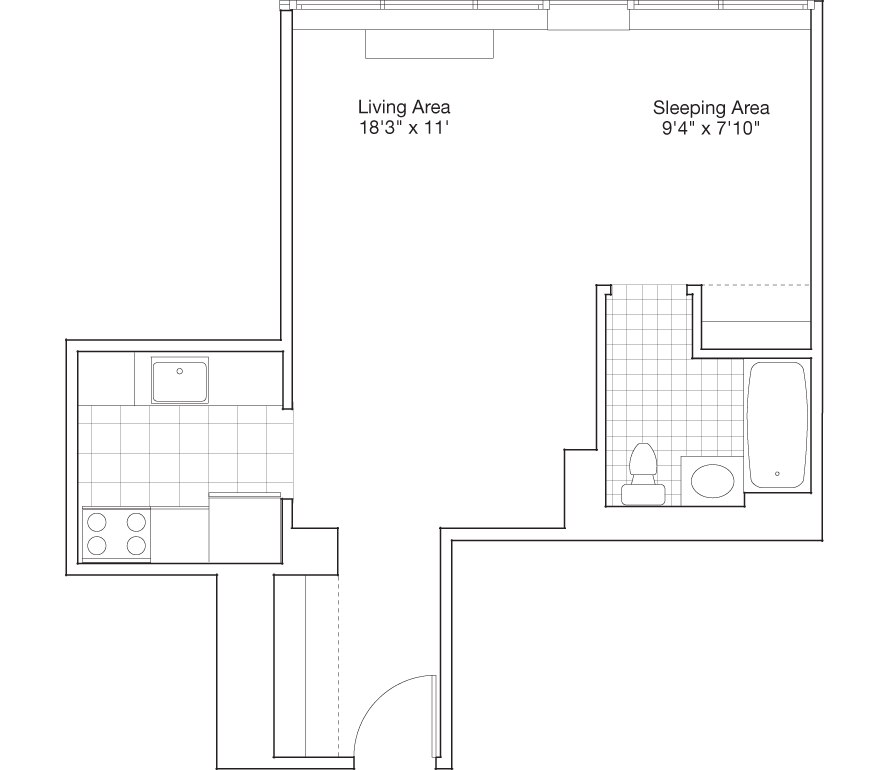 Residence B, Floors 4-PH