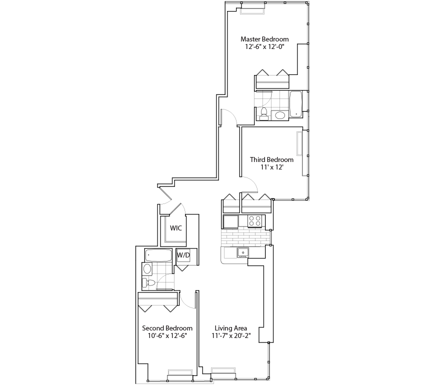 Learn more about Residence F 3BR, Floors 48-59